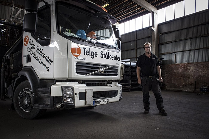 Telge Stålcenter Lastbil